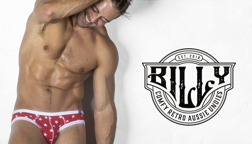 Billy Brief Red Stars Lifestyle Image