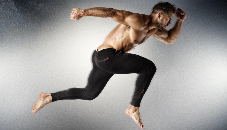 Athletic Trackpant Black Lifestyle Image