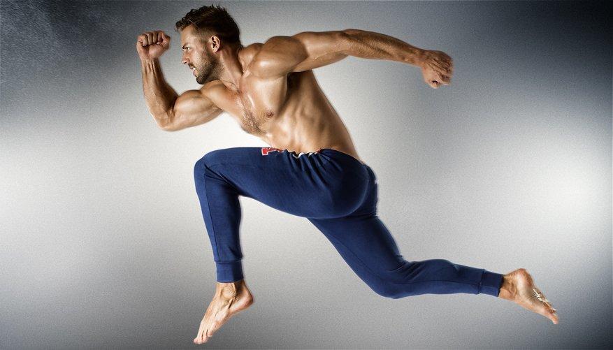 Athletic Trackpant Royal Lifestyle Image