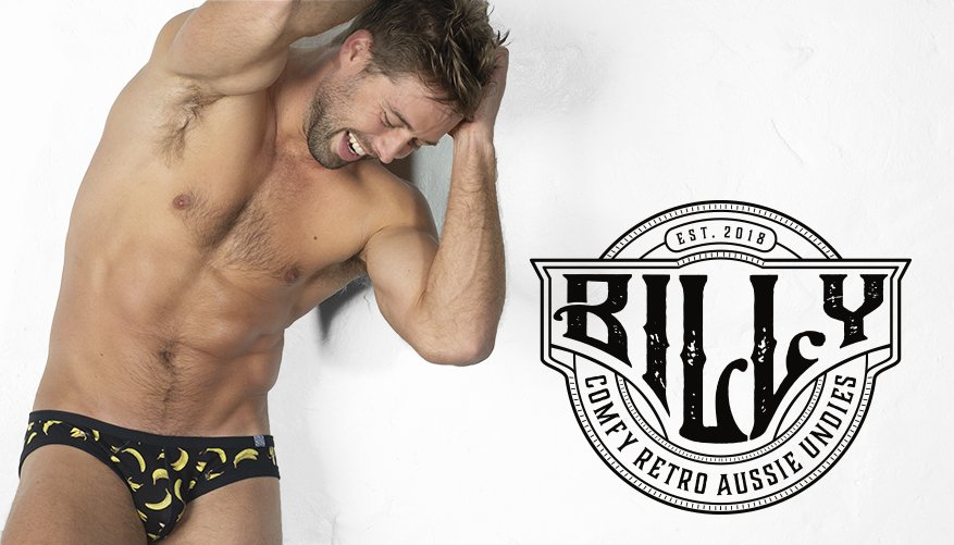 Billy Brief Banana Black Lifestyle Image
