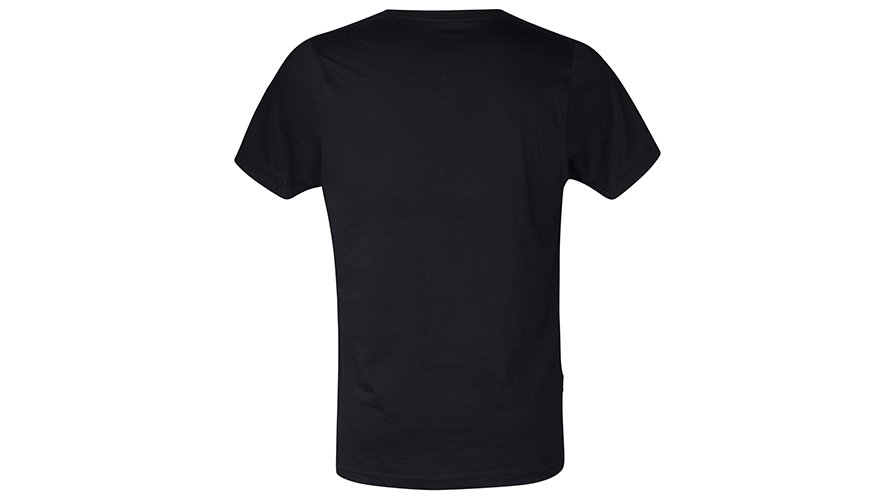 Pima Cotton V Neck Black Lifestyle Image