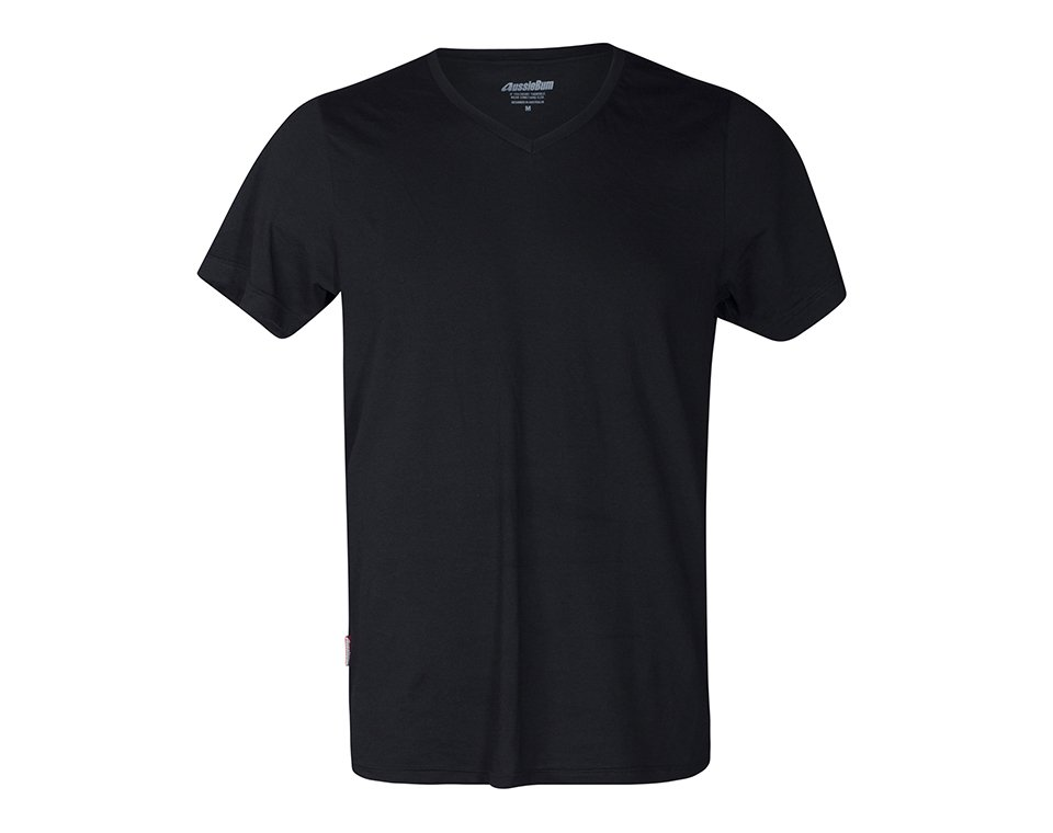 Pima Cotton V Neck Black Main Image