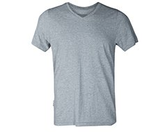 Pima Cotton V Neck Greymarle Main Image