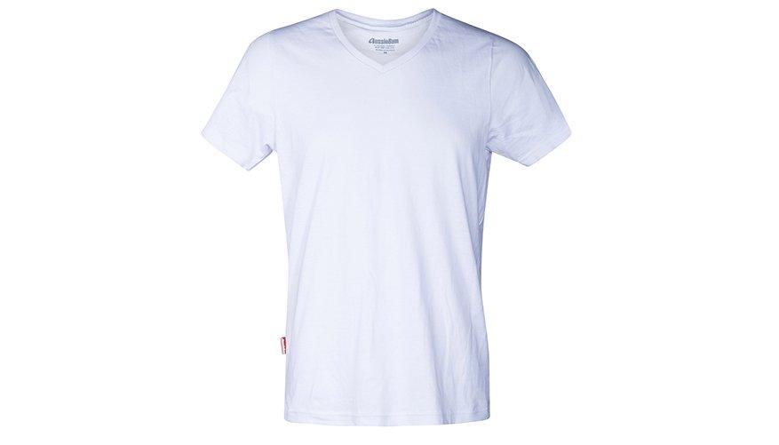 Pima Cotton V Neck White Lifestyle Image
