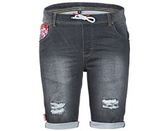 Hibiscus Denim Black Main Image
