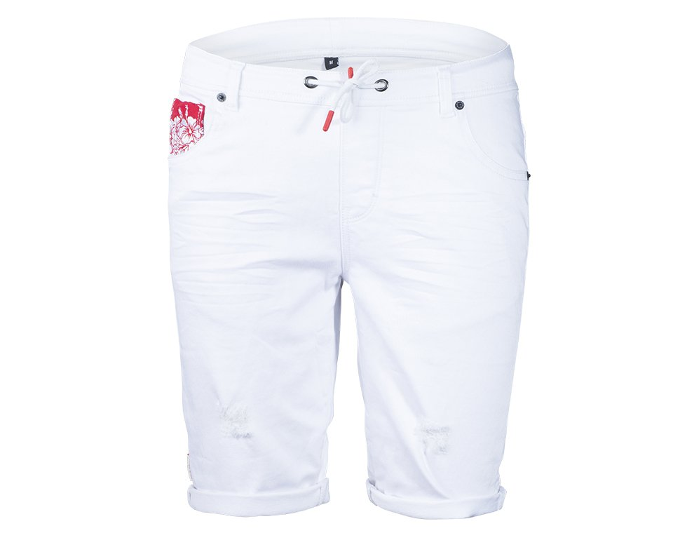 Hibiscus Denim White Main Image
