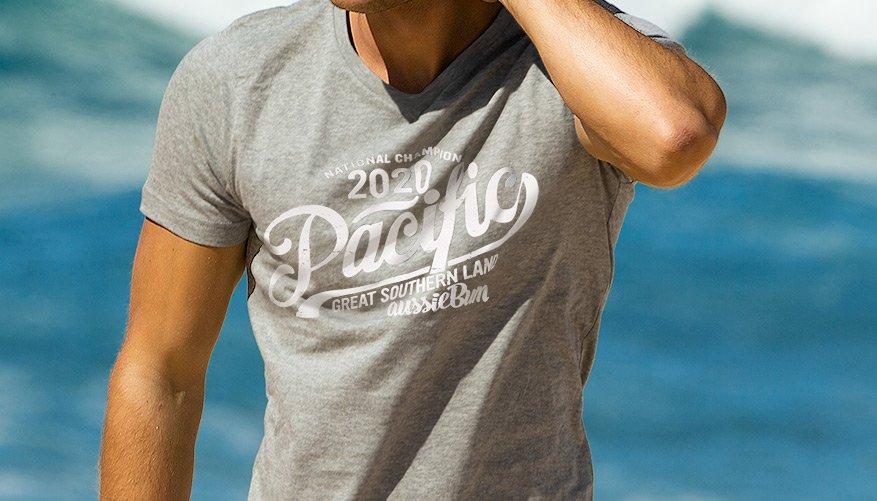 Designer Tee Pacific Grey Lifestyle Image
