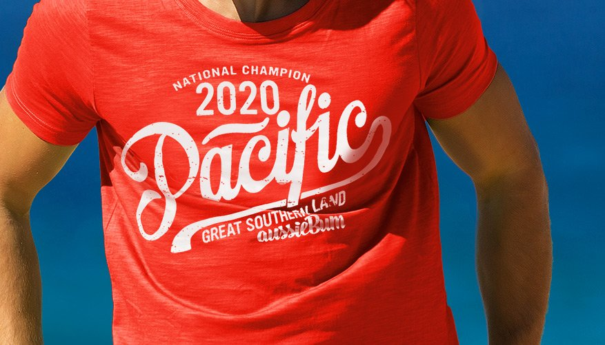 Designer Tee Pacific Red Lifestyle Image