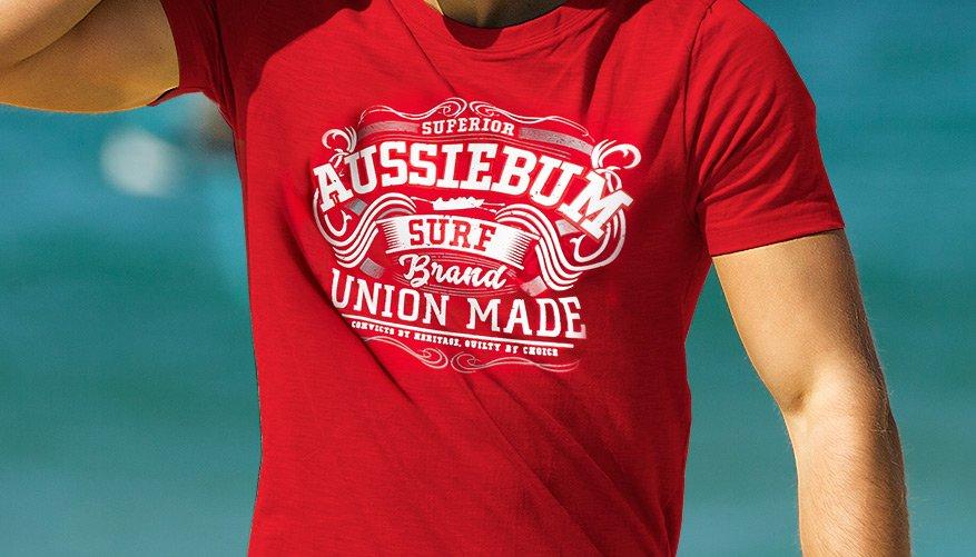 Designer Tee Union Red Lifestyle Image