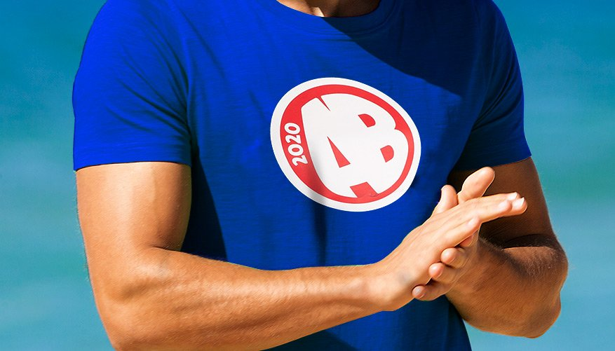 Designer Tee AB Blue Lifestyle Image