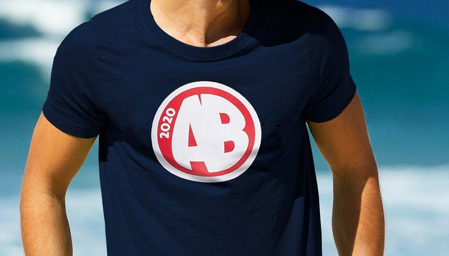 Designer Tee AB Navy Lifestyle Image