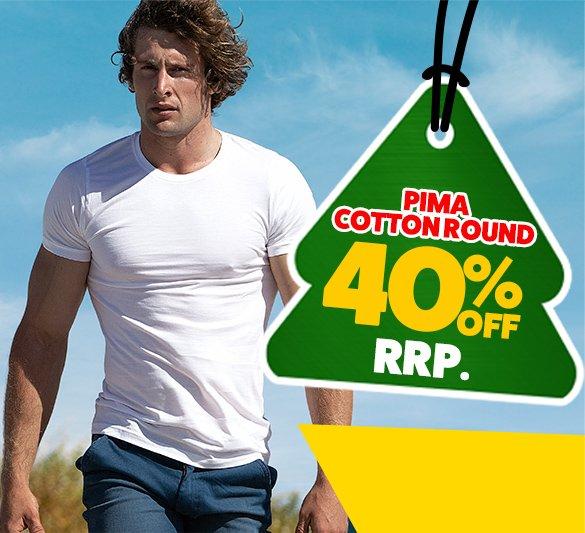 Pima Cotton Round White Homepage Image