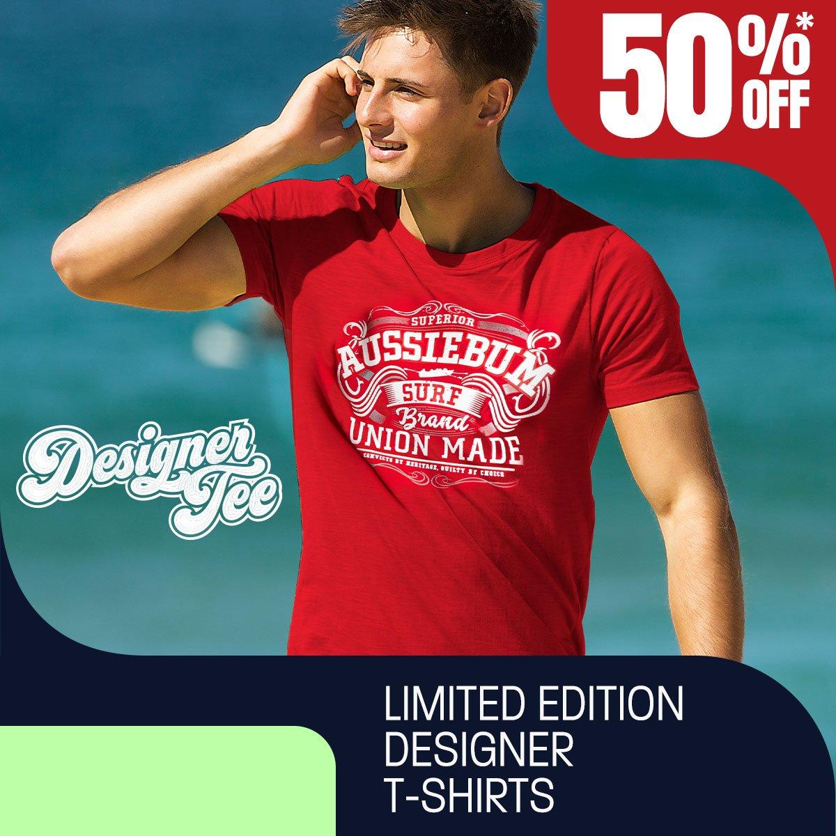 Designer Tee Union Red Homepage Image